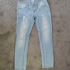 Blue asphalt skinny jean size 1